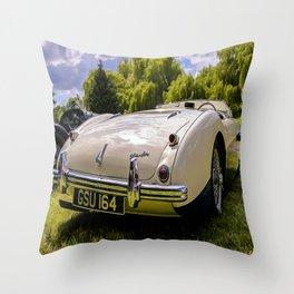 1955 Austin Healey Throw Pillow