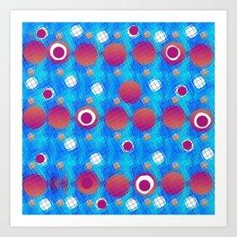 Bubble and circle Art Print