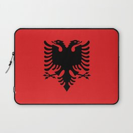 National flag of Albania - Authentic version Laptop Sleeve