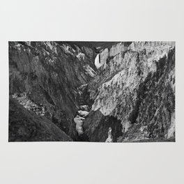 Lower Falls black and white Rug