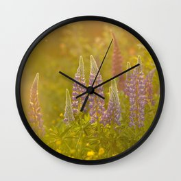 lupine flowers Wall Clock