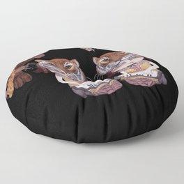 Tiger Mask - modern shamanism art Floor Pillow