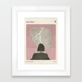 Charlotte Brontë Jane Eyre - Minimalist literary design Framed Art Print