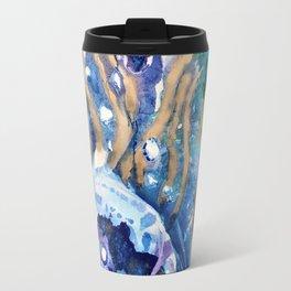 Golden Jellyfish Travel Mug