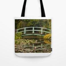 Monet Bridge Reflected Tote Bag