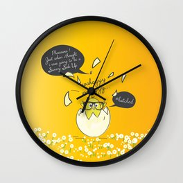 #Hatched Wall Clock
