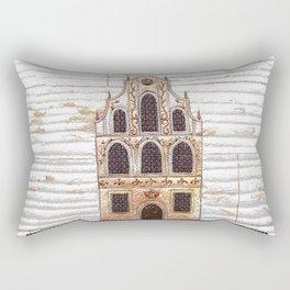 Old apartment house Rectangular Pillow