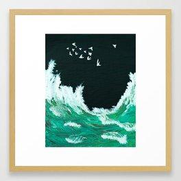 Waves of the Tasman Sea Framed Art Print