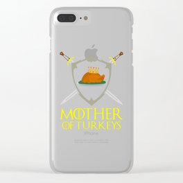 Mother Of Turkeys, thanksgiving Clear iPhone Case