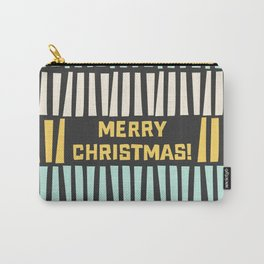 Mid-Century Modern illustrated Christmas Pattern Carry-All Pouch