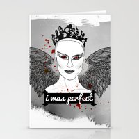 black swan Stationery Cards featuring Black Swan by raeuberstochter