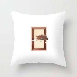 Torn Around — Bulldozer Throw Pillow