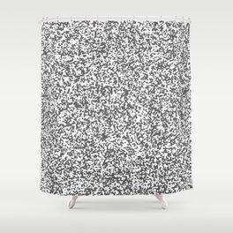 Tiny Spots - White and Dark Gray Shower Curtain