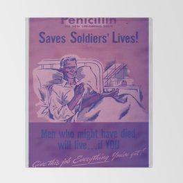 Vintage poster - Penicillin Throw Blanket