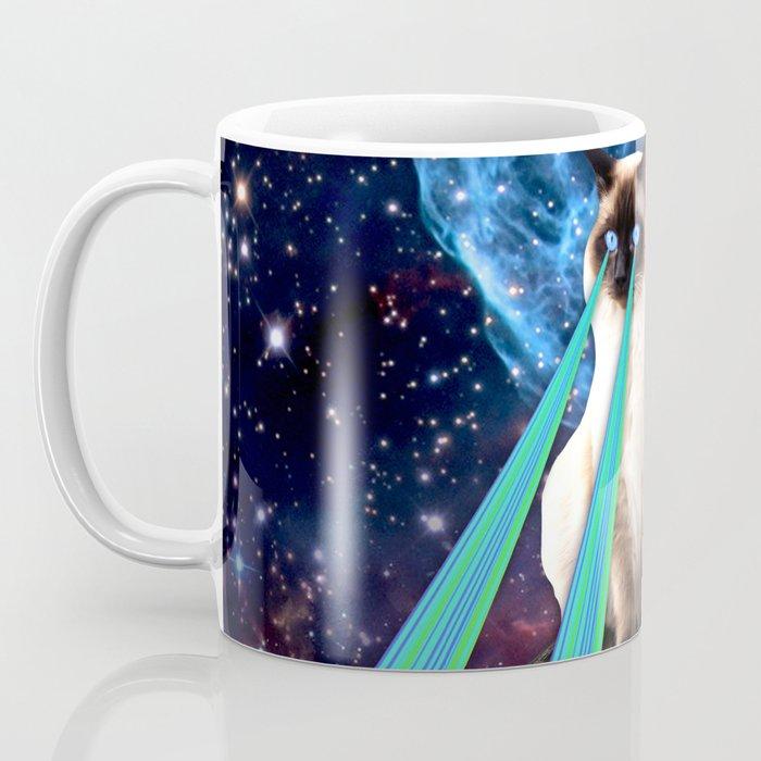 SIAMESE LASER CAT Coffee Mug