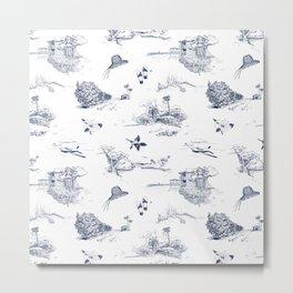 Very Vero Toile Metal Print