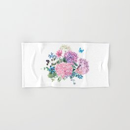 Summer Vintage Hydrangea Hand & Bath Towel