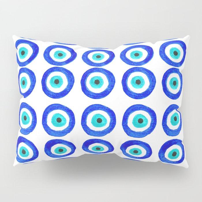 Evil Eye Amulet Talisman - on white Pillow Sham