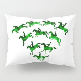 Connected to Showjumping (Green) Pillow Sham