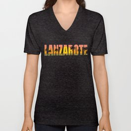 Lanzarote holiday sea palm beach Unisex V-Neck