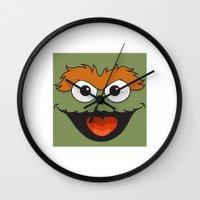 sesame street Wall Clocks featuring Sesame Street  by Jconner