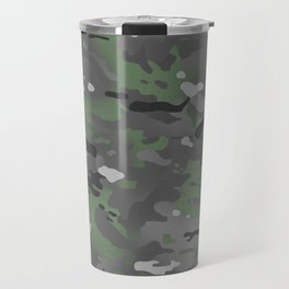 Camouflage: Arctic Green and Grey Travel Mug
