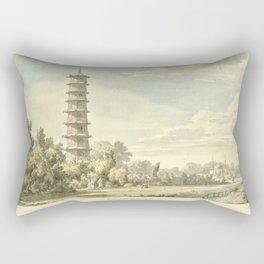 Pagoda at Kew Rectangular Pillow