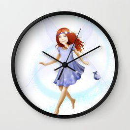 Please Little Fairy, Come Visit Me Wall Clock