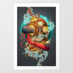 Deep Sea Diver Art Print