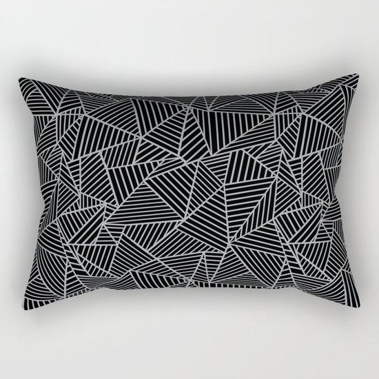 Ab 2 R Black and Grey Rectangular Pillow