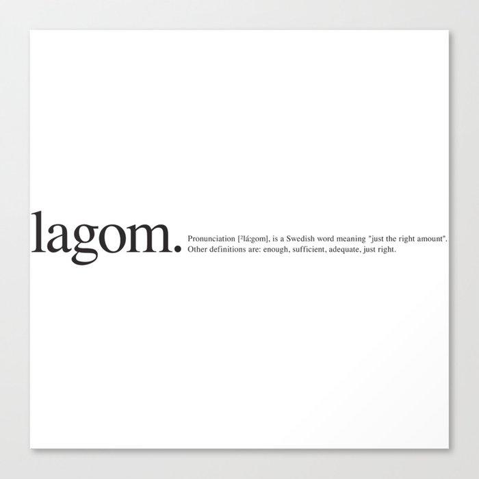 Lagom Wiki Canvas Print By Corduroy9 Society6