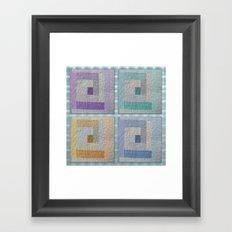 Country Quilt Framed Art Print