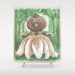 Empire of Mushrooms: Geastrum minimum Shower Curtain
