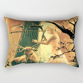 Feral Strings Rectangular Pillow