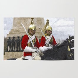 Household Cavalry Changing Of The Guard Art Rug