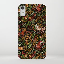 Khokhloma Russian Forest Animals iPhone Case
