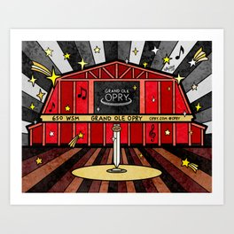Grand Ole Opry Art Print