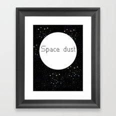 Space dust Framed Art Print