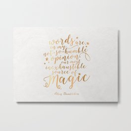 Dumbledore's Magic Words Metal Print
