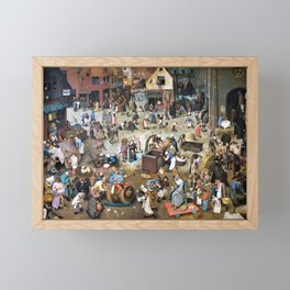 Pieter Bruegel - The Fight Between Carnival And Fasting - Digital Remastered Edition Framed Mini Art Print