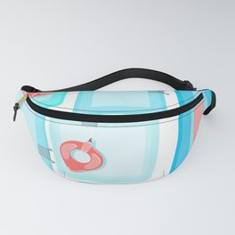Flamingo Pool Party (White) Fanny Pack