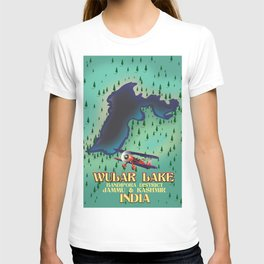 Wular Lake, Bandipora, indian travel poster T-shirt