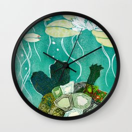Two-Headed Turtle II Wall Clock