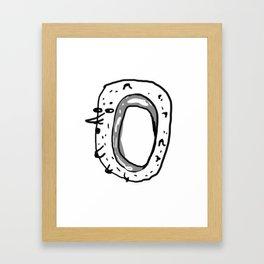 Your value is 0 Framed Art Print