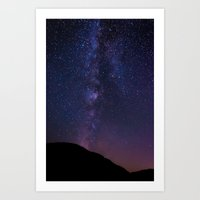 milky way Art Prints featuring Milky Way by Jon Bilous