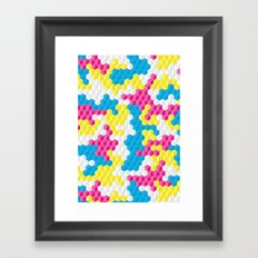 CUBOUFLAGE CANDY Framed Art Print