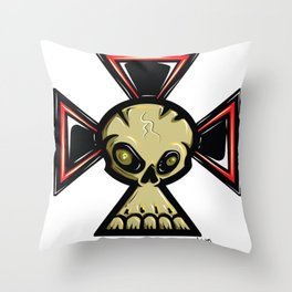 Skull Cross Throw Pillow