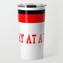 One Day at a Time (red block) Travel Mug