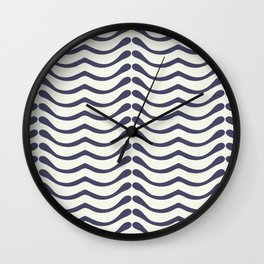 Abstract leaf shapes Wall Clock