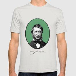 Authors - Henry David Thoreau T-shirt